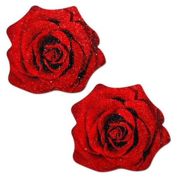 Pastease Red Glitter Rose Pasties