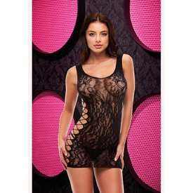 Lapdance Leopard Lace Mini Dress