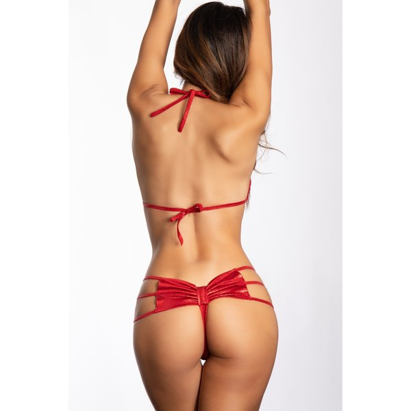 Midnight Ballerina Bow Butt Thong - Twinkle