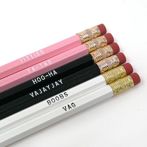Lady Part Pencil Set