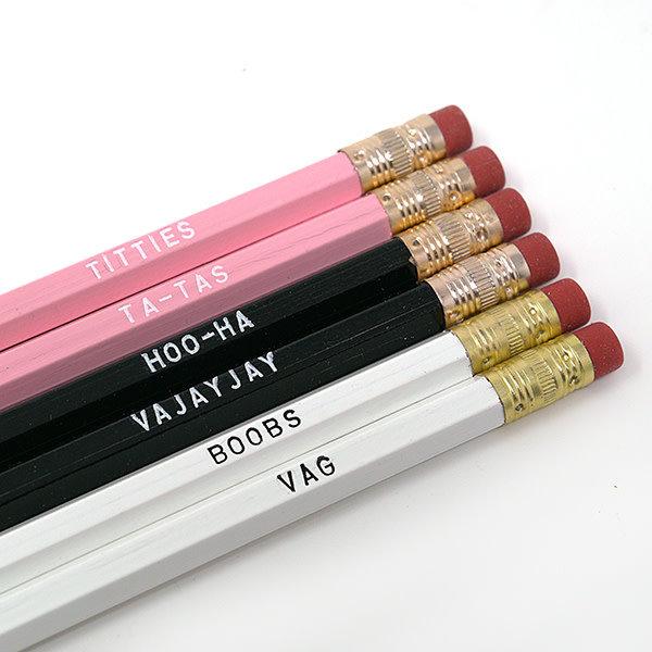 Unblushing Lady Part Pencil Set