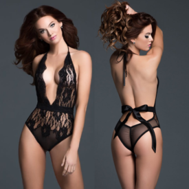 Allure V-Plunge Bow Back Teddy