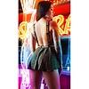 Bo$$ Bitch Metallic Knit Suspender Skirt