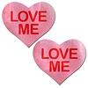"""""""Love Me"""" Pink Heart Pasties"""