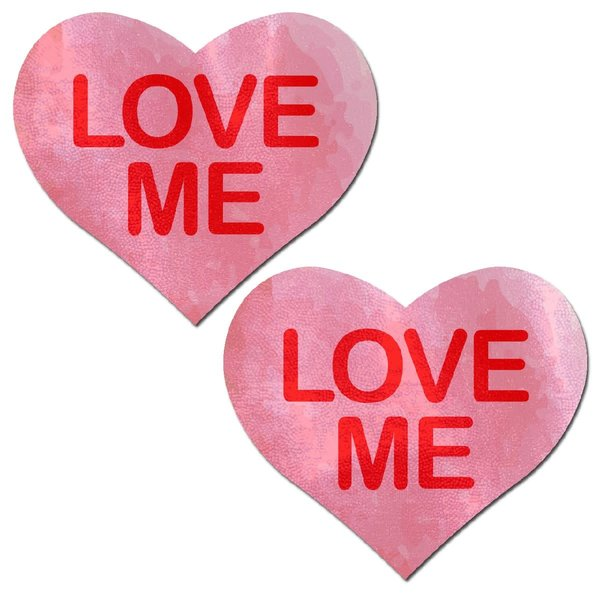 """Pastease """"Love Me"""" Pink Heart Pasties"""