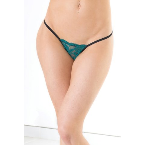 Low Rise Lace G-String Panty - One Size Fits Most
