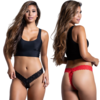 Slim Lace Crotchless V-Thong - One Size Fits Most