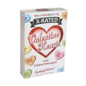 Candyprints Valentine X-Rated Candy Hearts 2oz Box