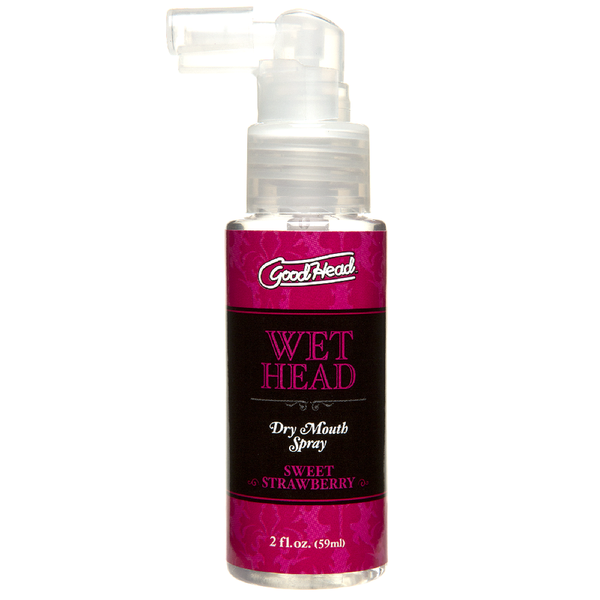 Doc Johnson GoodHead Wet Head Dry Mouth Spray - Sweet Strawberry