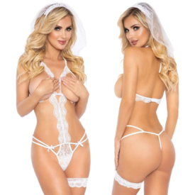 Leg Avenue Blushing Bride Three Piece Set