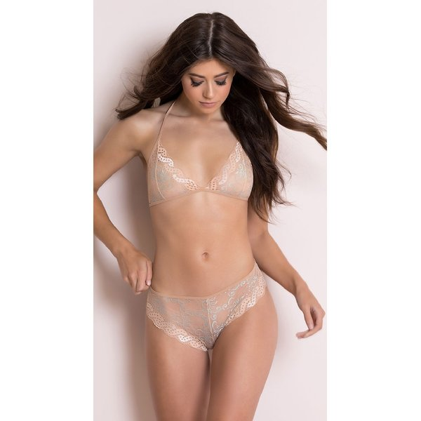 Popsi Sheer Lace Bralette and Panty Set