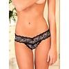 Crotchless Lace V Thong