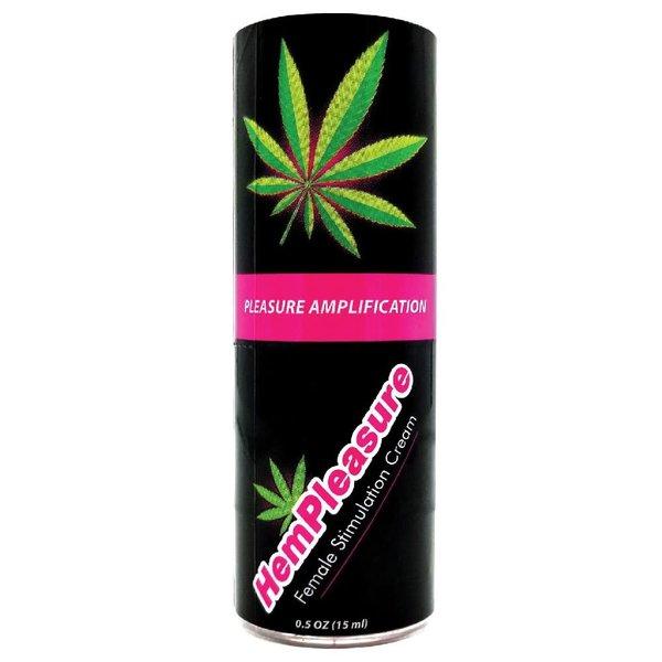 Body Action HemPleasure Female Stimulation Cream - .5 oz bottle