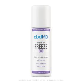 cbdMD CBD Freeze Pain Relief Roller 300mg 3oz