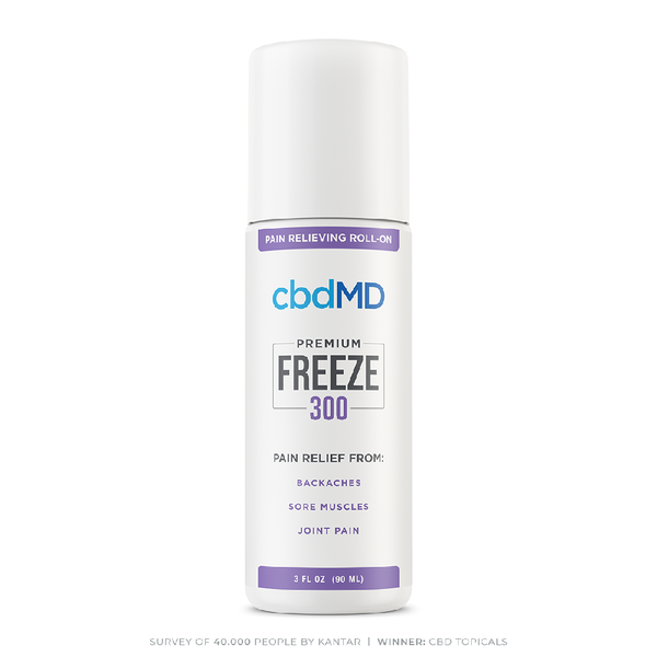 cbdMD CBD Freeze Pain Relief Roller 300mg 3oz