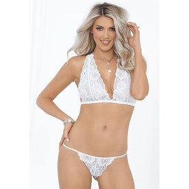 Escante Flirty White Soft Cup Bralette and Panty Set