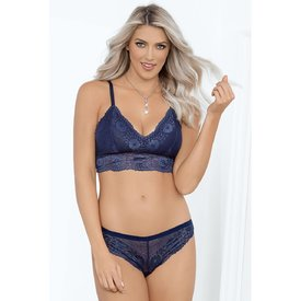 Escante Navy Blue Soft Cup Bralette Set