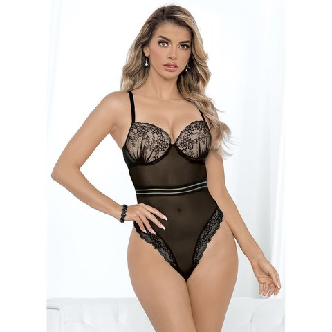 Floral Ruched Cup High Waist Teddy