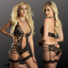 Lace Plunging Gartered Teddy