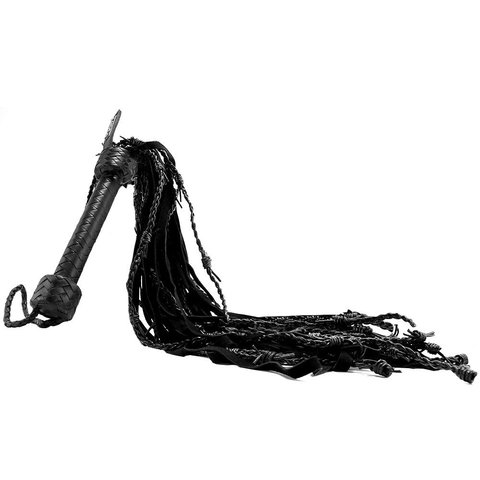 Leather Suede Barbed Wire Flogger