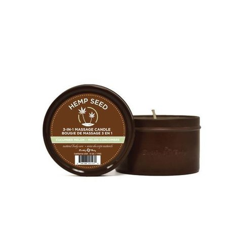3-In-1 Massage Candle With Hemp
