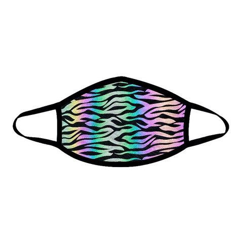 Reflective Zebra Face Mask