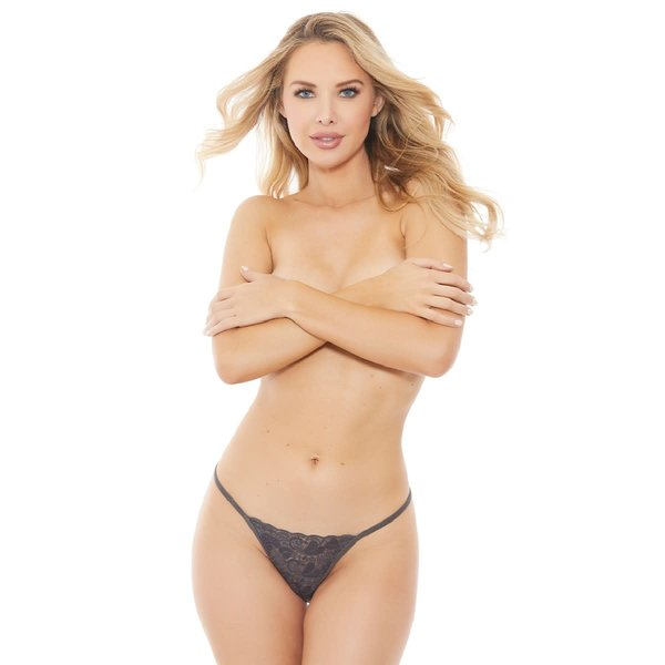 Popsi Lacy Crotchless G-String - One Size Fits Most