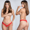 Pearl Lace Panty Red - One Size Fits Most