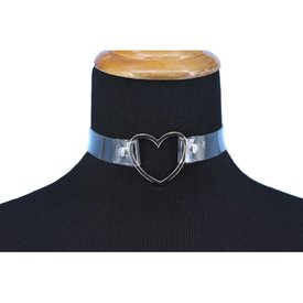 Groove Clear Choker with Heart Ring
