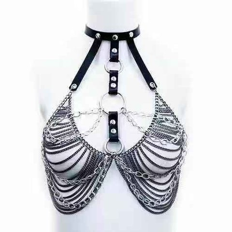 Choker Multi Chain O-Ring Top