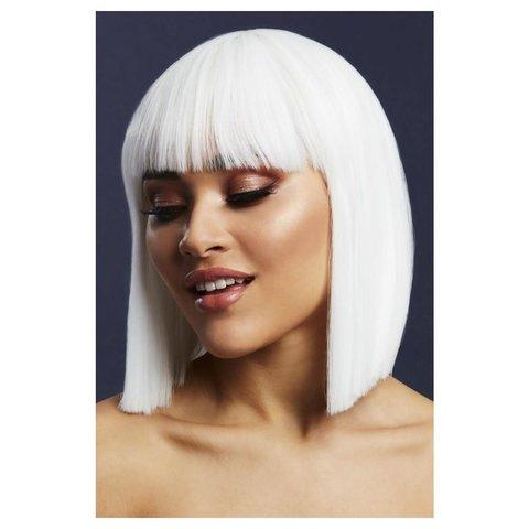 Ice White Blunt Cut Lola Wig