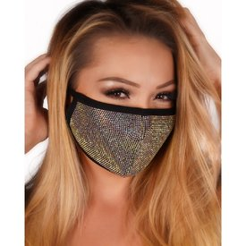 Groove Holographic Rhinestone Face Mask