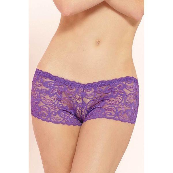 Seven 'til Midnight Classic Lace Boyshort Purple