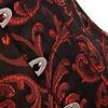 Brocade Overbust Corset Red/Black