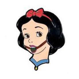Geeky & Kinky Snow White Ballgag Pin