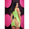 Criss-Cross Mini Dress - Neon Green - One Size Fits Most