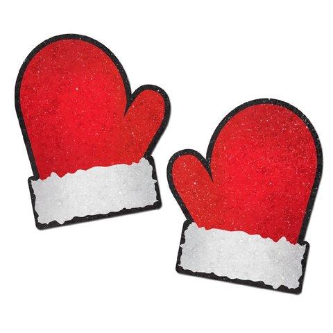 Red and White Santa Mitten Pasties