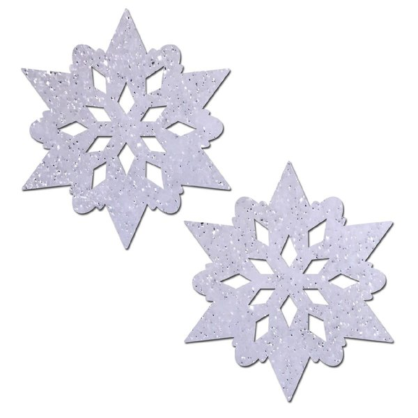 Pastease Snow White Glitter Snowflake Pasties