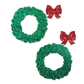 Pastease Green Glitter Wreath Pasties
