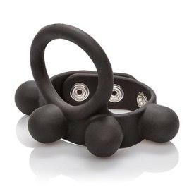 CalExotic Weighted Silicone Cock Ring and Ball Stretcher Large