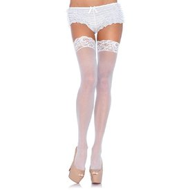 Leg Avenue Nylon Sheer Thigh Hi Lace Top