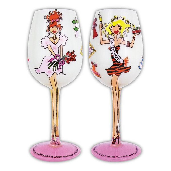 Groove Wine Glass - Bridesmaid