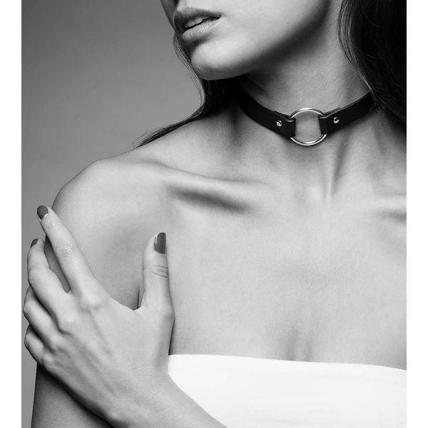Bijoux Indiscrets Maze Single Ring Choker Black