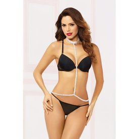 Seven 'til Midnight Rhinestone Silver Draping Body Chain