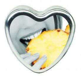 Earthly Body Edible Massage Hemp Candle - Pineapple 4 oz