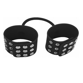 Shots Ouch! Silicone Cuffs - Black