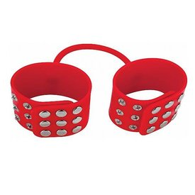 Shots Ouch! Silicone Cuffs - Red