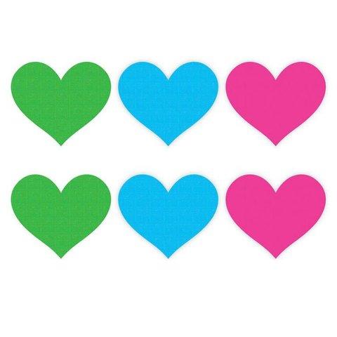 Neon Heart  Pasties - 3 Pair
