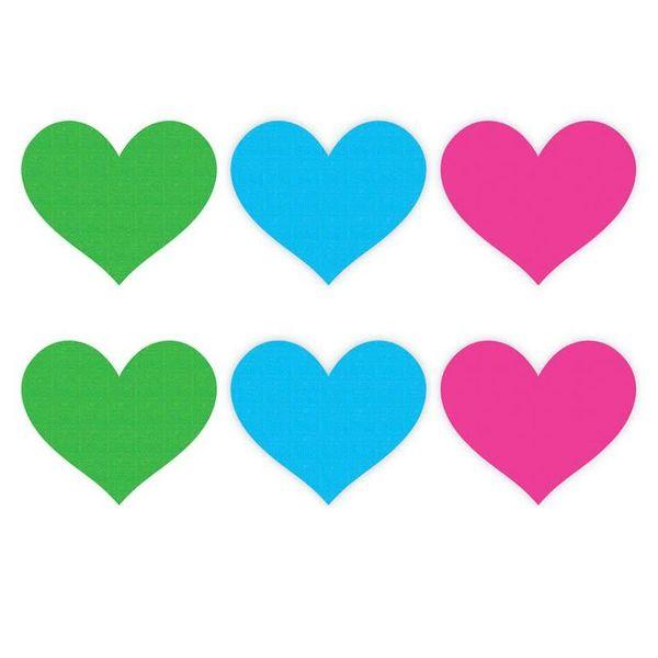 XGen Neon Heart  Pasties - 3 Pair