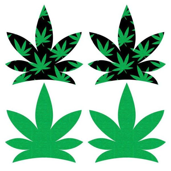 XGen Up In Smoke Pot Leaf Pasties